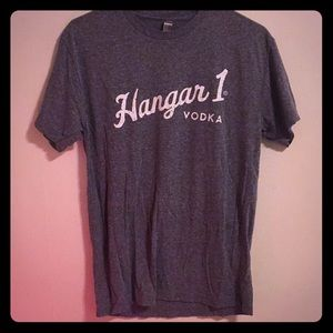 Hangar 1 Vodka t-shirt M gray next level apparel